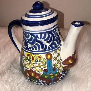 Mexican pitcher & lid, lead free